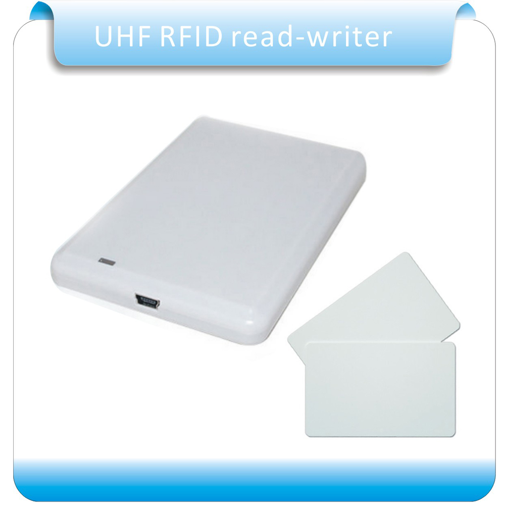 Free shipping 902-928MHz usb reader writer UHF rfid writer&reader for access control system with sample card test rfid uhf reader writer 902 928mhz 5 meter free sdk and software for car packing system and warehouse
