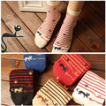Animals Striped Cartoon Cat Cute Kawaii Sock Art Socks Novelty Funny Sokken For Women Short Ankle Meias Sox