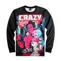 Новый Дэдпул X Харли Квинн Crazy Love 3D Печати Пуловер Уличная Мужская Тонкий Перемычка Анимация Верхняя Одежда Спортивный Костюм