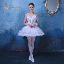 を新しい大人のダンスの摩耗ダンスバレエスカート服ボディスリングスカートホワイトチュチュリトルスワン衣装ダンスドレス服t-