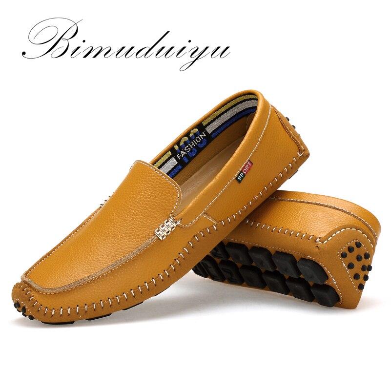BIMUDUIYU Big Size High Quality Genuine Leather Men Shoes Soft - Men's Shoes - Photo 3