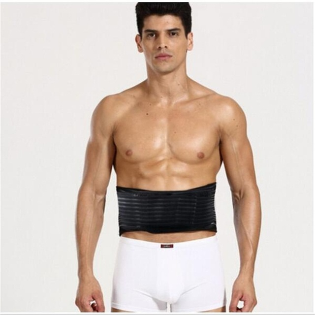 Adjustable Self-heating Tourmaline Magnetic Belt Lumbar Support Brace Double Banded Waist Message Belt Relive Pain In Low Back