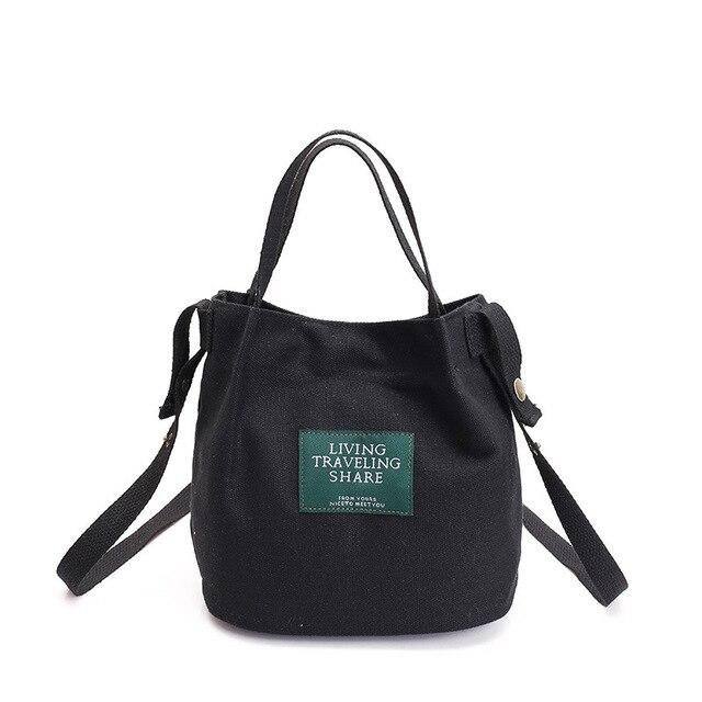 New Casual Handbags Women Bags Designer Canvas Letter Label Shoulder Bag Mini Messenger