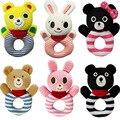 2016 caliente expreso seis diseño muchachos de los bebés lactantes mano sombra Animal del oso conejo pata suave felpa muñeca, juguetes educativos 0 +