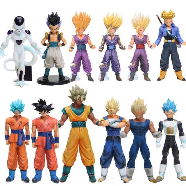 20 25cm Anime Dragon Ball Z Super Saiyan Vegeta Son Goku Trunks Pvc