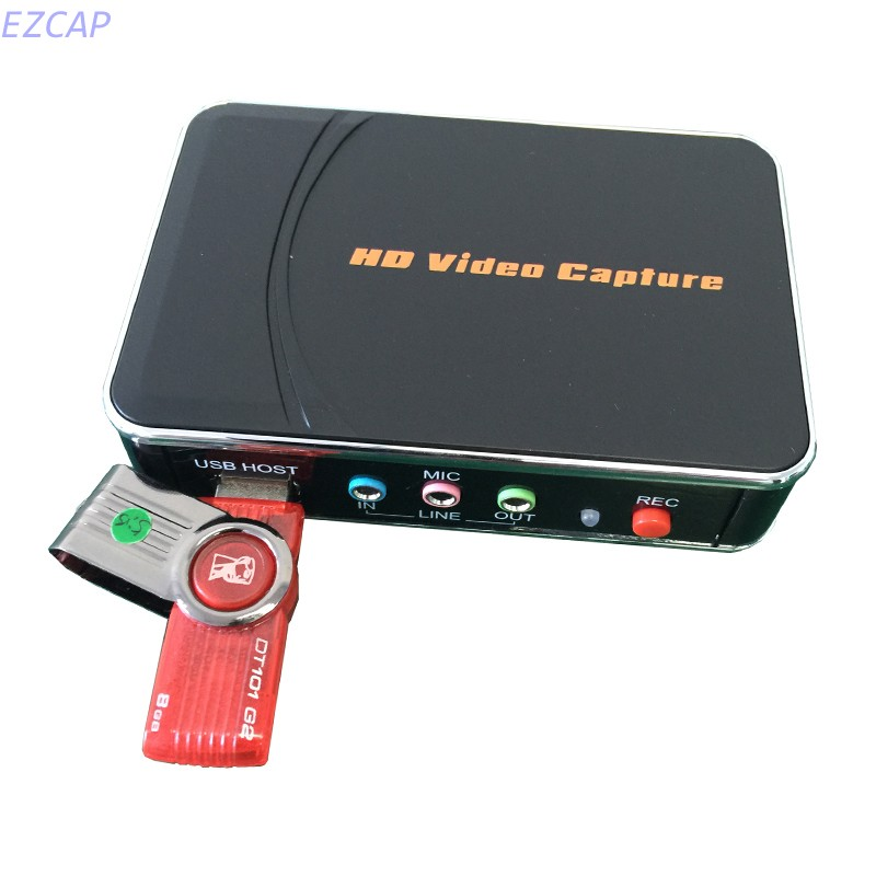 2017 New VHS video capture HDMI, capture 1080P HDMI/YPbPr video to HDMI, USB Flash disk directly, no pc need, Free shipping 2017 new hdmi capture 1080p hd video into usb disk or sd card directly no pc enquired free shipping