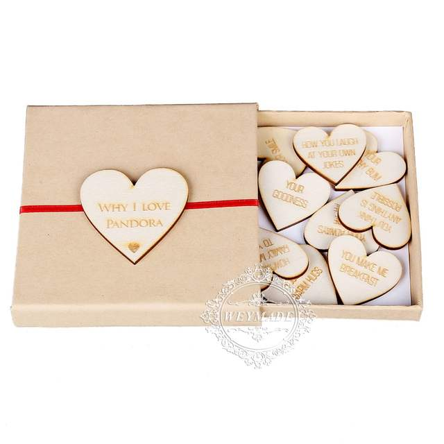 US $8 49 15% OFF|Personalized Engraved Wooden Heart Mother's Day Keepsake  Present 10 Reasons Why I Love You Special Gift Box For Mum, Mummy-in Party