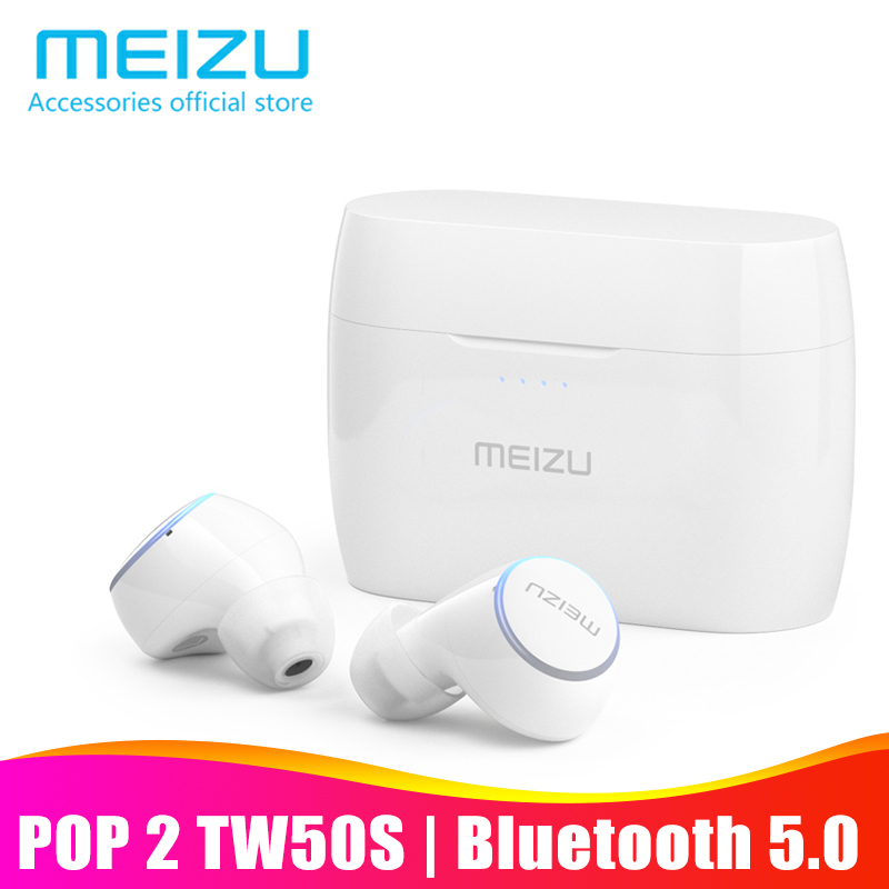 Meizu POP 2 POP2 TW50S Bluetooth 5.0 Earphone True Wireless Earbuds IP5X waterproof In-ear Sports headphones for smartphone holographic belt purse