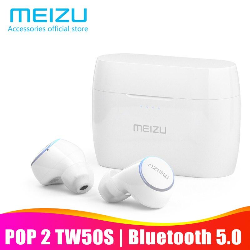 Meizu pop 2 pop2 tw50s bluetooth 5.0 fone de ouvido verdadeiro fones de ouvido sem fio ip5x à prova dwaterproof água em fones de ouvido esporte para smartphone