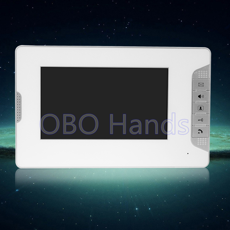 ФОТО 7'' color video door phone indoor monitor screen with high quality without IR night vision video doorbell camera for DIY system