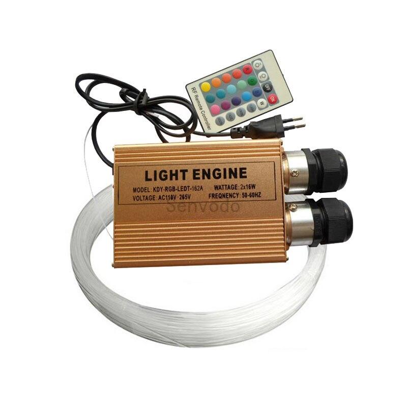 Светодиодный волоконно оптический комплект потолочных светильников 2X 200 шт. 0,75 мм 2 м оптическое волокно + 32 Вт RGB LED оптическое волокно свет д