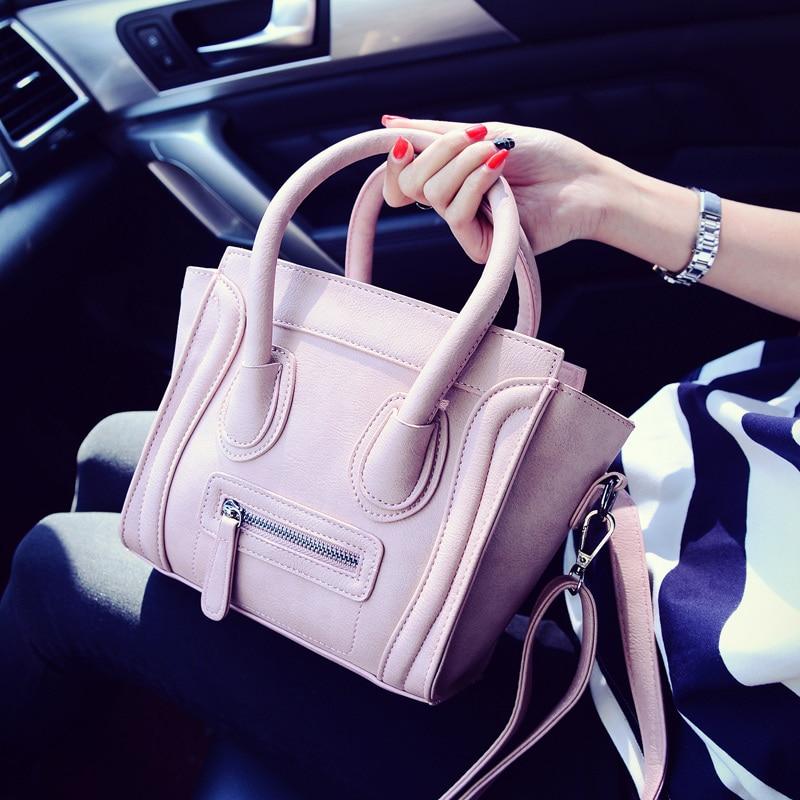 Fashion portable cute <font><b>bag</b></font> Small solid color casual vintage women&#8217;s handbag leisure style girl shoulder <font><b>bag</b></font> new