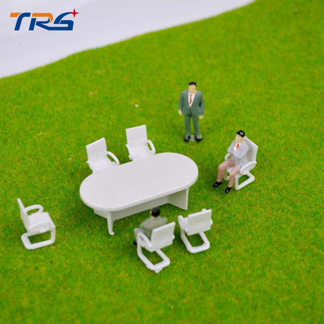 Teraysun Scale Model Meeting Room Layout Mini Board Room Table - Conference room table and chairs set