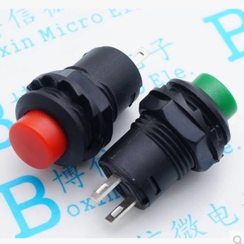 5pcs Red Self-locking Push button Switch Latching ON/OFF DS-425A DS425 12mm стоимость