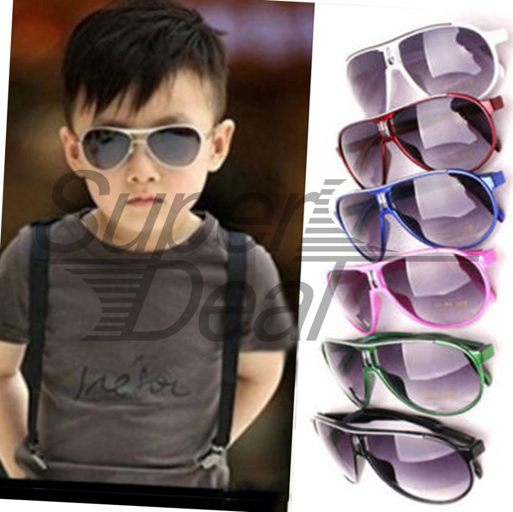 1pcs Cool Anti UV 400 Boy Gril Fashion Glasses Cute Large Kids Sunglass Shades Quality Big Sale