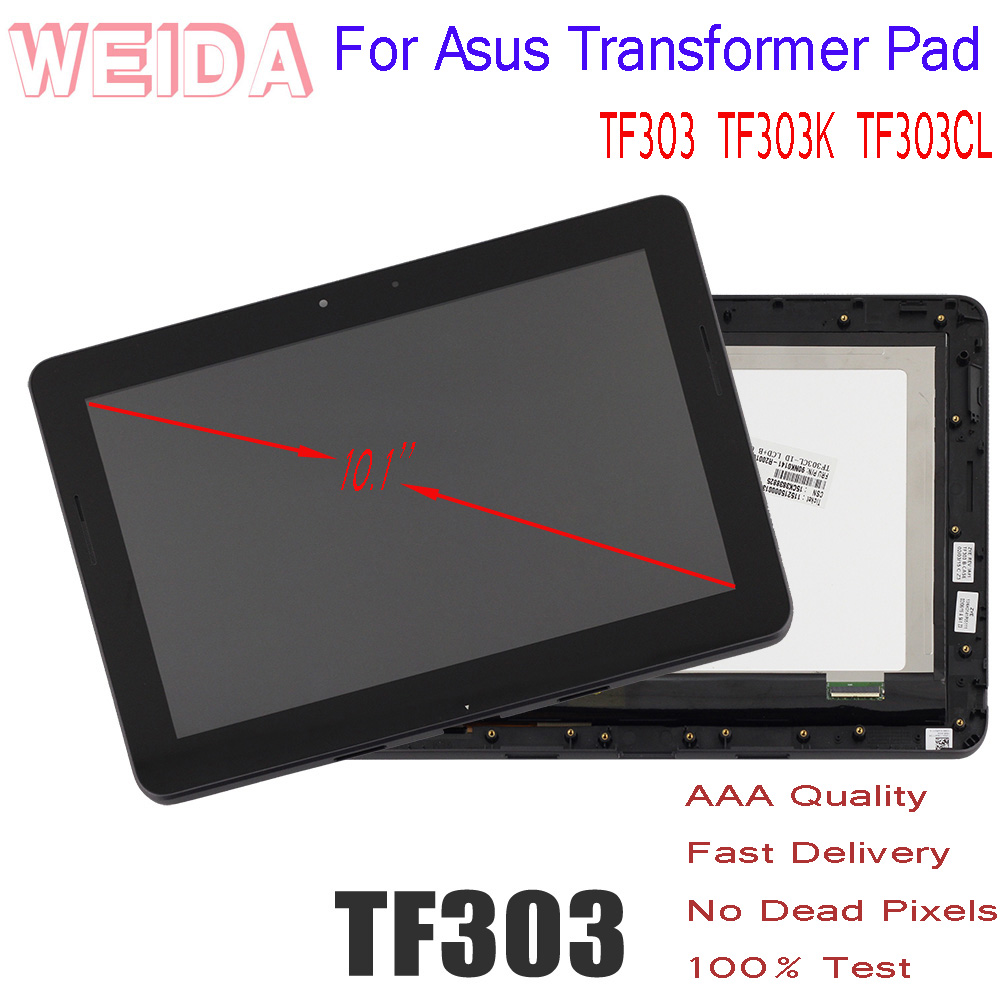 """LCD 10.1"""" for Asus Transformer Pad TF303 TF303K TF303CL K014 LCD Display Touch Screen Assembly Frame Tablet PC Replacement Parts