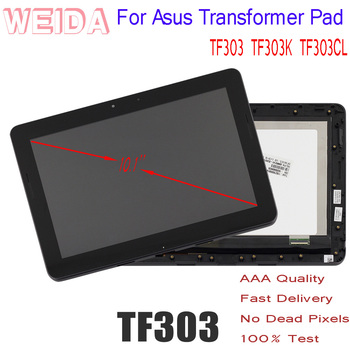 цена на LCD 10.1 for Asus Transformer Pad TF303 TF303K TF303CL K014 LCD Display Touch Screen Assembly Frame Tablet PC Replacement Parts
