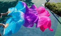 Silk Veils Dance Fans High Quality Chinese 1 Pair Of Belly Dancing Fans Silk Veils Fans