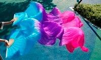 Silk Veils Dance Fans High Quality Chinese 1 Pair Of Belly Dancing Fans Silk Veils Fans
