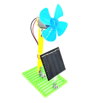 Solar Powered Electric Fans DIY  3