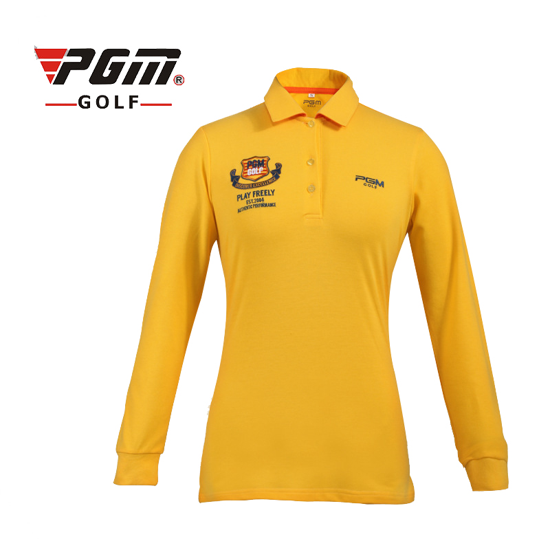 PGM New Golf T Shirts For Women Long Sleeve Breathable Sports T Shirt Professional Lady Golf Training Polo Shirts Golf Clothing