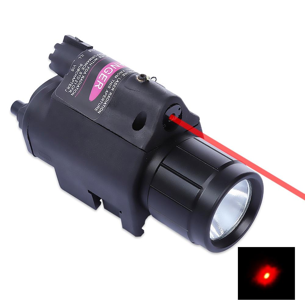 9908 20MM Laser Sight Tactical LED Flashlight Red Dot Laser Sight for Pistol Weaver Picatinny Rail