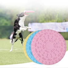 Pet toys Dog Flying Discs Trainning Puppy Toy Rubber Fetch Disc Frisby 22cm Chew Training Toys