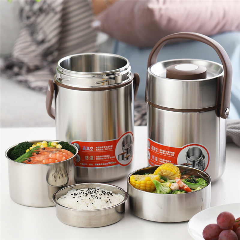 ONEISALL 2L Thermos Food Jar Container Thermal Insulation Lunch Box Stainless Steel Vacuum Flask Thermo Bottle Leak-ProofONEISALL 2L Thermos Food Jar Container Thermal Insulation Lunch Box Stainless Steel Vacuum Flask Thermo Bottle Leak-Proof
