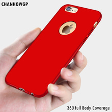 Luxury 360 full Body Coverage Hard Matte Case For iPhone 6 6S Plus 7 7Plus 4 4S 5 5S SE Smart Phone Back Cover TOP Quality