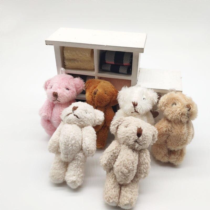 10PCS/LOT Bear Dolls Plush Small Mini Toys 6CM Gifts Birthday Wedding Party Decor