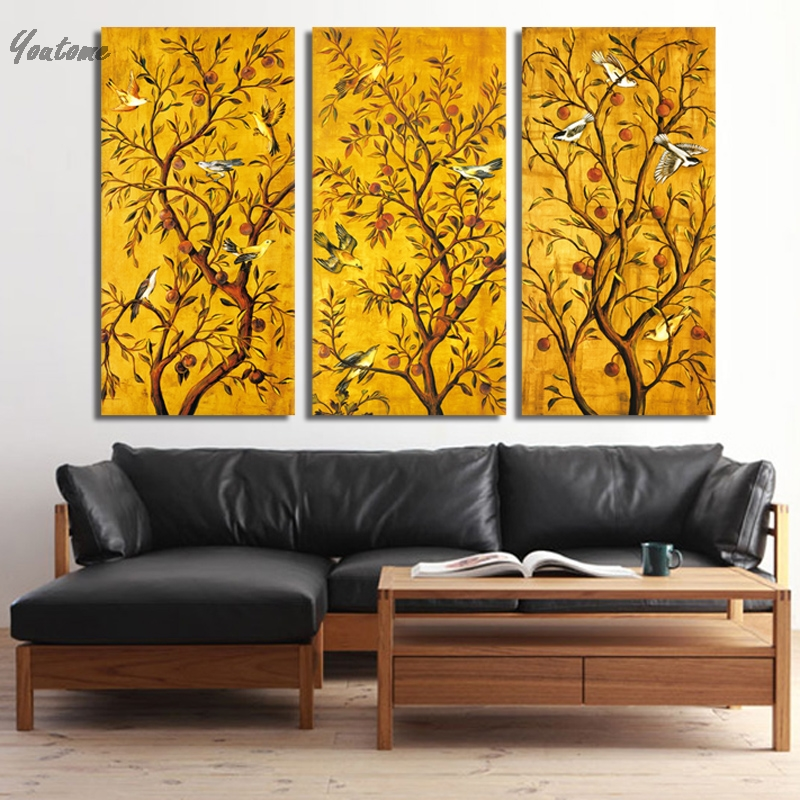 QKART Vintage Poster Oil Painting Wall Picture For Living Room ...