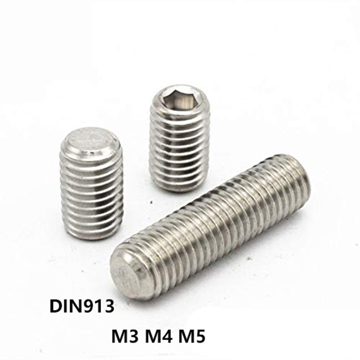 25 pcs socket set screw flat point DIN 913 Stainless A2 M2 Lengths 2 to 12mm