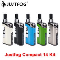 In stock JustFog Compact 14 Kit Compact 14 Electronic Cigarette Vaporizer Kit with 1.2ohm/1.6ohm Q14 Clearomizer Tank Vape Kit