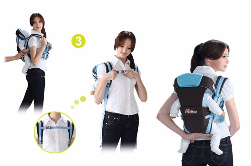 0-30 Months Breathable Front Facing Baby Carrier 4 in 1 Infant Comfortable Sling Backpack Beige One size 5