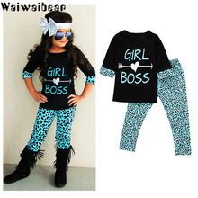 Waiwaibear Spring Baby Girls Sets Cotton Long-sleeved Tops+Pants 2pcs Kids Clothing Set TY6