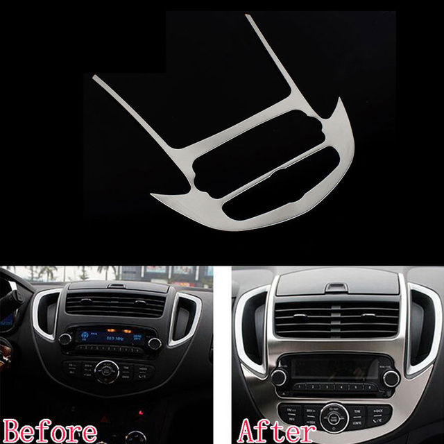 Us 22 05 10 Off Auto Center Console Control Panel Trim Cover Molding For Chevrolet Chevy Trax 2014 2015 Interior Car Styling Overlay Accessories In