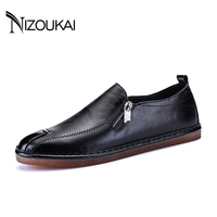 PLUS SIZE 39 44 Men Leather Casual Shoe Mens Loafers Fashion Handmade Moccasins Leather Men Flats