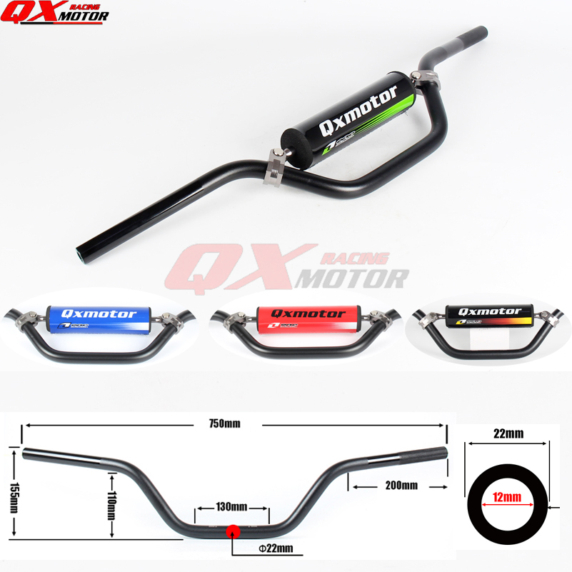 Universal 7075 alloy 7 8 22mm Handlebar Handle bar For CRF YZF KLX RMZ Dit Pit