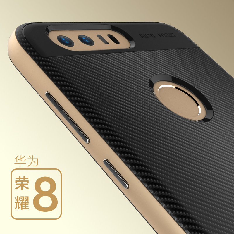 Case For Huawei Honor8 luxury TPU +PC Silicone Cover Full Protection For Huawei Honor 8 Cases Shell Mobile phone Accessories