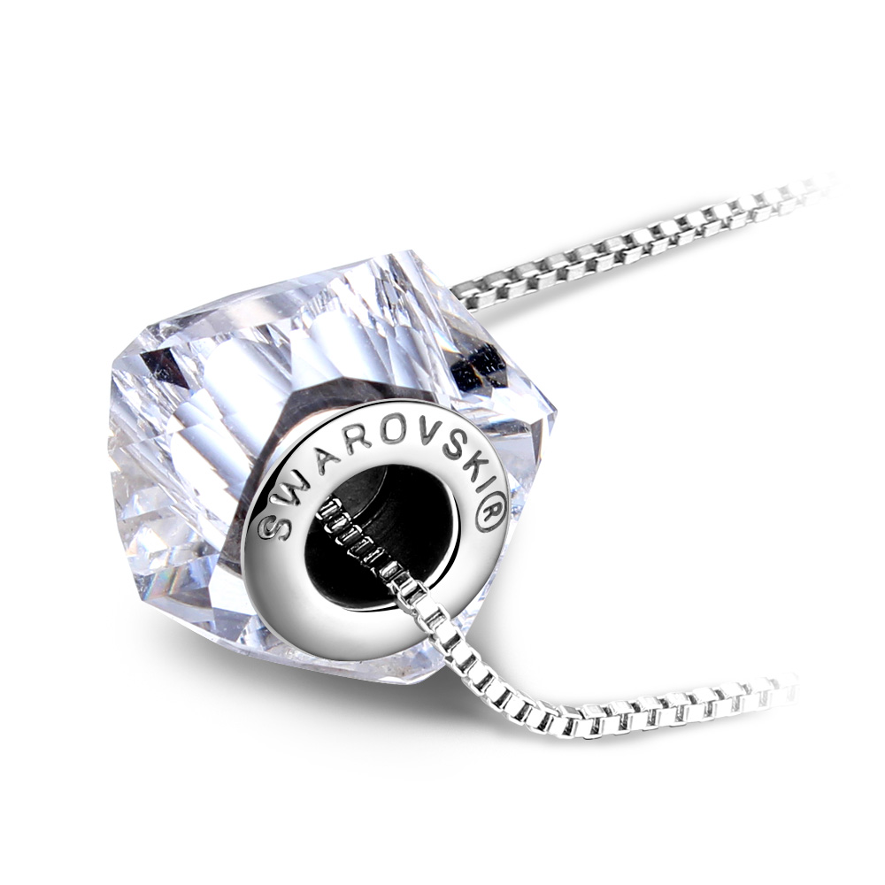 Best Quality Original Crystals from Swarovski Elements Ball Necklaces Pendants With Logo Collier Women Fine Jewelry Joyas