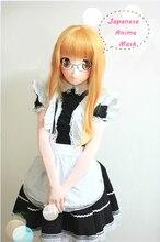 Full Head Anime KIG Mask Cosplay Kigurum Crossdresser Doll Halloween Fetish Japanese Cartoon Character Masks Custom EYES/HAIR