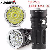 1PC High Quality Super XLightFire 30000LM 12 x CREE XM L T6 LED Hunting Flashlight 4 x 18650 Lamp Torch Free Shipping #O26