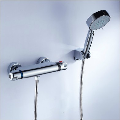 Bathroom Bath Bathtub Shower Faucet Mixer Tap W/ Thermostatic Control Valve xueqin bathroom bath shower faucets water control valve wall mounted ceramic thermostatic valve mixer faucet tap