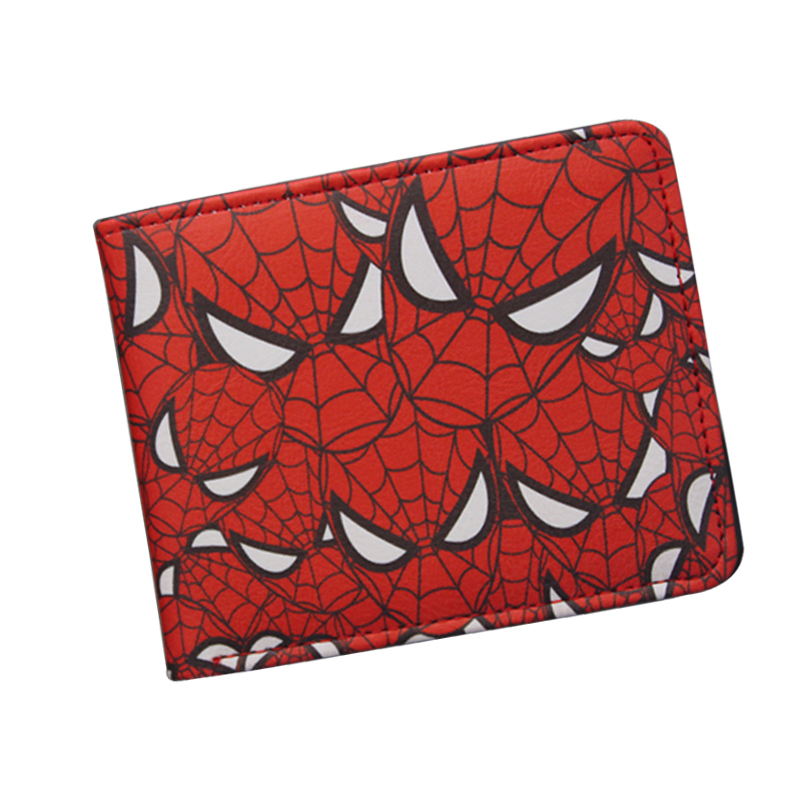 все цены на Popular Superhero Anime Wallet The Avengers Hero Spider-Man Wallet Cute Teenager Boy's Spider Spiderman Wallet & Purse Leather в интернете