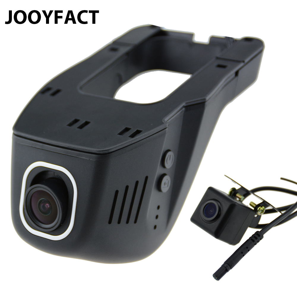 JOOYFACT A5 Coche DVR Dash Cam Registrator Grabadora de Vídeo Digital Cámara de Lente Dual Noche Versión Novatek 96658 IMX 323 WiFi
