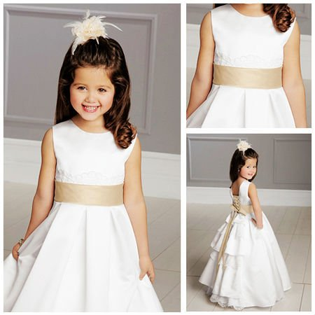 Online Get Cheap White Dress Kids Open Back -Aliexpress.com ...