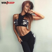 New Arrival Fitness Tracksuit for Women Sportswear Sport Tops and Women Push Up Pants 2 piece Yoga Set Women Activity Suit