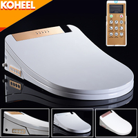 KOHEEL Intelligent Toilet Seat Washlet Elongated Electric Bidet Cover Smart Bidet Heating Sits Led Light Wc LCD 3 Color