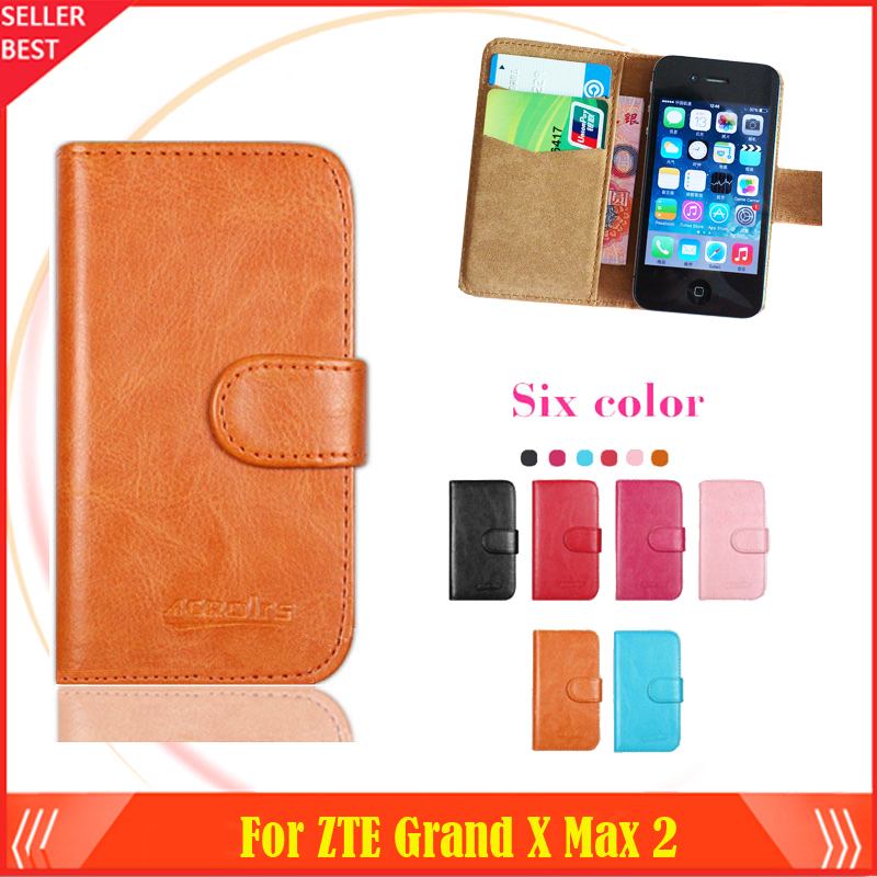 Hot!! In Stock ZTE Grand X Max 2 Case 6 Colors Luxury Ultra-thin Leather Exclusive For ZTE Grand X Max 2 Phone Cover+Tracking