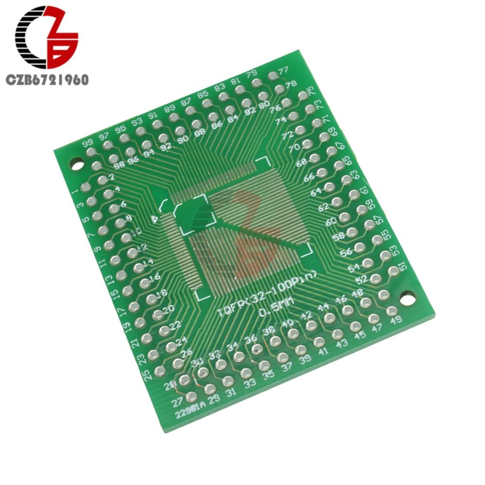 2PCS New  QFP//TQFP//LQFP//FQFP//SOP//SSOP32 to DIP Adapter PCB Board Converter